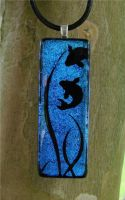 Dive Fused Glass Pendant by FusedElegance