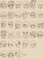 534th Sketches OC's (part II) by M053AB