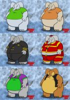 New Elephant Characters! by HIJOKEtheDragon