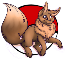 Commission - Eevee by Rattlesire