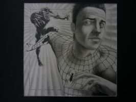 Me as Spider Man Portrait by pureluck13