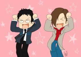 Hiro + Peter - Caramel Dansen by Blue-Dragonne01