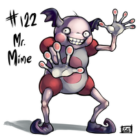 122 - Mr. Mime by oddsocket