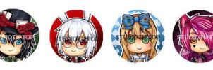 Alice in the Country of Hearts Pins by StudioTipTop