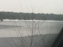 Vacation day one. the lake: iced by This-Shattered-Mind