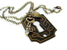Antique Keyhole Necklace by pila12903