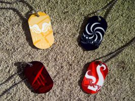 Homestuck Dog Tags by LingeringSentiments
