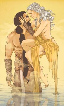 Khal Drogo and Daenerys by Pulvis
