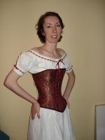 Brocade Corset by Carrieliney