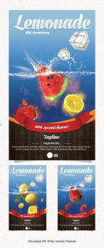 Lemonade Flyer with 3 Flavor by snmsnl