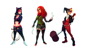 Gotham City Sirens by yosilog