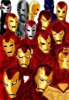 Iron Man armors by iron-at