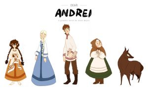 Dear Andrei Character Lineup by brusierkee