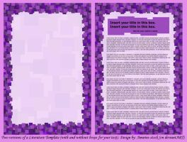 Lit Template Squares Purple by Amaries-stock