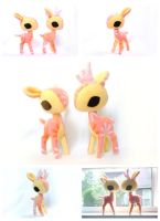Pink Lemonade Deer Plush by pookat