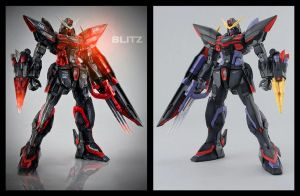 Burning MG GAT-X207 Blitz Gundam by tralala1984