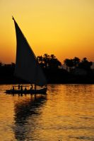 Felucca and Sunset, Egypt by fourthwall