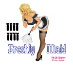 Freshly Maid Bomber Nose Art Pinup Girl by Chuck-Bauman