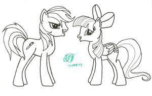 Ratchet and Ivy, Hoof Drawn by Ratchet-Wrench