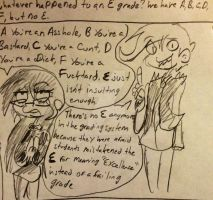 ASK PDC: Why No E?! by demonofnothing