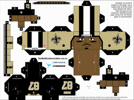 Joe Horn Saints Cubee by etchings13