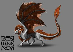 Rust Dragon by ZenithDeLunaris