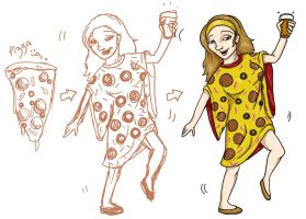 Pizza Girl by Natnie