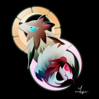 Lycanroc by Ilona-the-Sinister