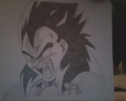 super saiyan 4 vegeta charging!! by vegeta-goku