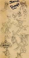Sketch Dump :D by Asheltots