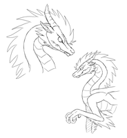 Dragon Form by awesomestickfigure