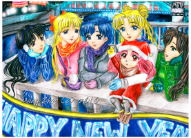 Happy New Year Sailor Moon by moonlightamber