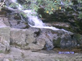 waterfall on Mount Washington by jashinist112