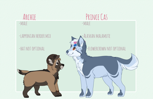 Prince Cas and Archie Dual Reference Sheet by caifers