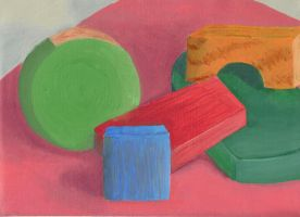 Colored Blocks Painting Study by Zephyr-Aryn