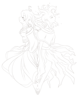 Seles-Fae Mirror Outline by goofanader