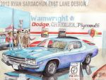 Brand New, Petty Blue 1973 Plymouth Roadrunner by FastLaneIllustration