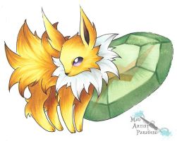 Chibi Jolteon by MadArtistParadise