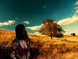 Mileena's lonely day by Spectre-001