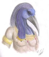 Thoth the Egyptian god by corgimancy