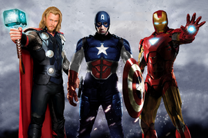 Avengers Big 3 by BIGBMH