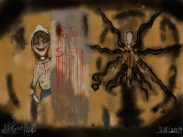 Jeff The Killer and Slender Man by JECSTER21