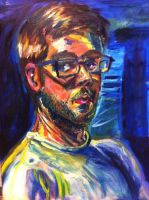 Finished Self portrait oil painting by Infinity-Joe