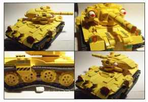 Another Yellow Lego Tank by Frohickey