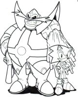 Archie Dr. Ivo Robotnik and Sonic LA by trunks24