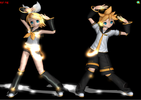 Kagamine Twins MME: ObjectLuminous by Stella6