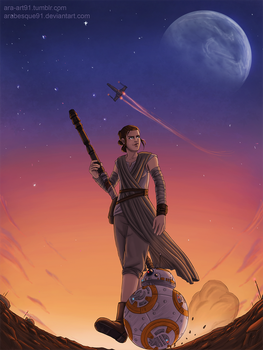 Rey and BB-8 by Arabesque91