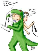 Reptar vs Swan Queen by sexyfairy
