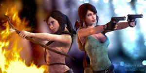 Partners 2... Aicka and Lara by Pitoxlon