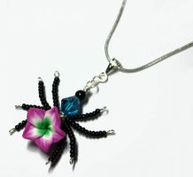 *NEW* Beaded Flower Spider PERFUME Pendant by Create-A-Pendant